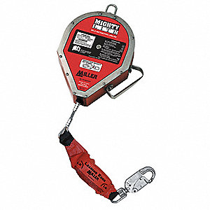 50 ft. Self-Retracting Lifeline with 310 lb. Weight Capacity, Red