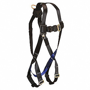 XL/2XL Full Body Harness, 5000 lb. Tensile Strength, Black