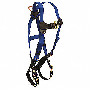 Standard Non-belted Full Body Harness with 425 lb. Weight Capacity, Blue/Black, XL/2XL