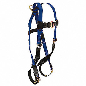 XL Full Body Harness, 5000 lb. Tensile Strength, Blue/Black
