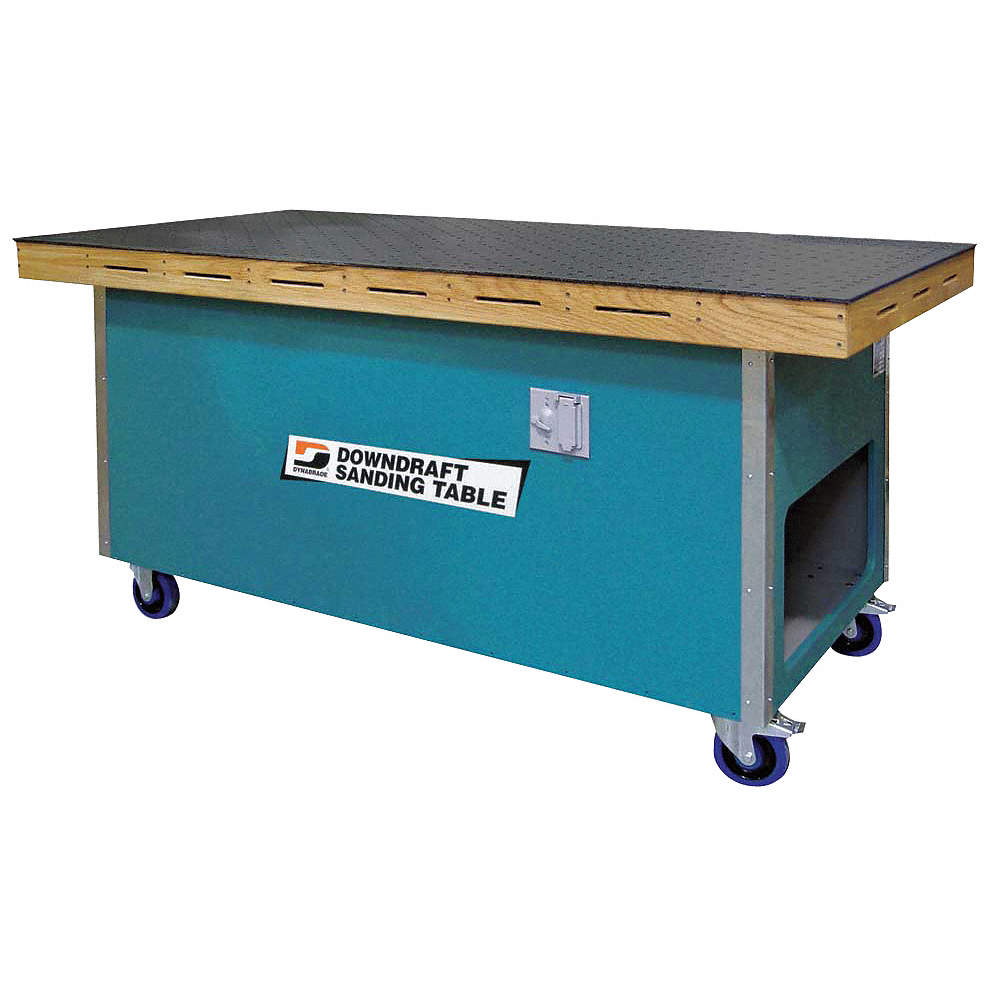 "1 hp downdraft table, 115 volts, 1 micron filter rating, 3000 cfm suction,  36"" x 72"""