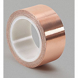 Foil Tape,1/2 In. x 6 Yd.,Copper