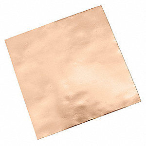 "Copper Shielding Foil Tape, Acrylic, 3.50 mil Thick, 1/2"" X 1/2"", 5 PK"
