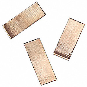 "Copper Shielding Foil Tape, Acrylic, 2.60 mil Thick, 3/4"" X 2"", Copper, 100 PK"