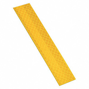 Reflective Tape Strips, Yellow, PK10