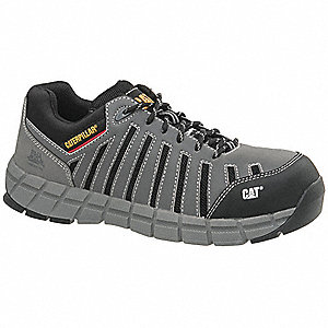 OxfordH Men's Athletic Style Work Shoes, Composite Toe Type, Dark Gray, Size 10M