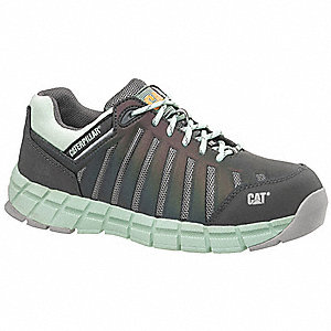 Athletic Work Shoes,9-1/2,M,Women,Grn,PR