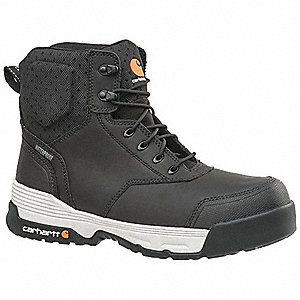 "6"" Work Boot,  8-1/2,  Medium,  Men's,  Black,  Composite Toe Type,  1 PR"