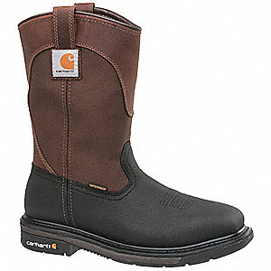 Western Boot,  12,  Wide,  Men's,  Brown/Black,  Steel Toe Type,  1 PR