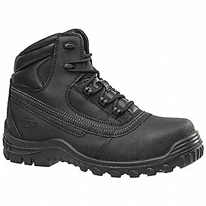 "6""H Men's Hiking Boots, Steel Toe Type, Black, Size 10-1/2M"