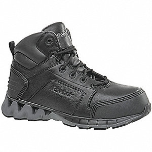 "6""H Men's Work Boots, Composite Toe Type, Black, Size 7W"