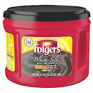 Black Silk, Dark Coffee, 1.51 lb. Can, 1 EA