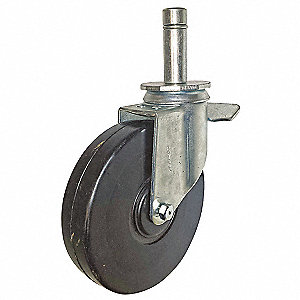 Scaffold Caster,Rubber,6 in.,240 lb.