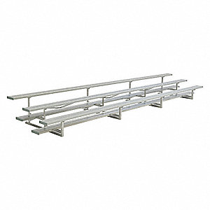 21 ft. Bleacher with 42 Seats in 3 Rows, Aluminum