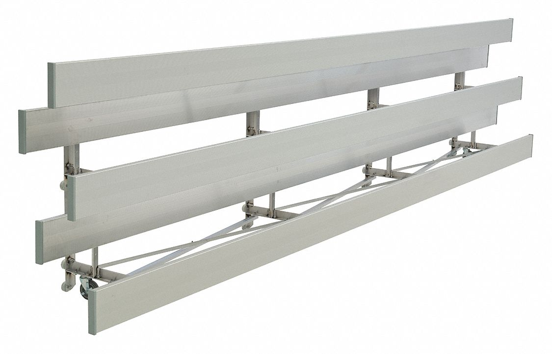 21 ft Bleacher with 42 Seats in 3 Rows, Aluminum