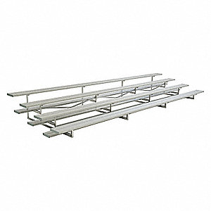 21 ft. Bleacher with 56 Seats in 4 Rows, Aluminum