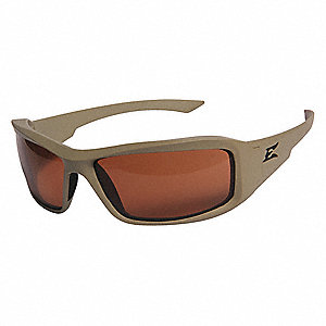 Edge Eyewear Scratch-Resistant Safety Glasses, Copper Lens Color