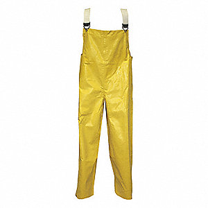 FR Rain Bib Overall,4XL,Yellow