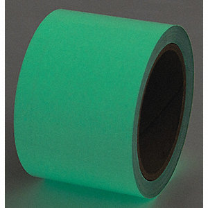 "Glow-in-the-Dark Marking Tape, Solid, Roll, 1"" x 30 ft., 1 EA"