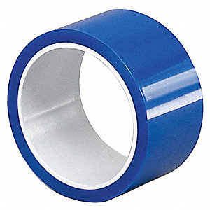 Polyester Film Tape, Silicone Adhesive, 2 40 mil Thick, 1