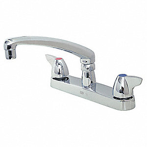 Kitchen Faucet,Brass,6-11/16in.Overall H