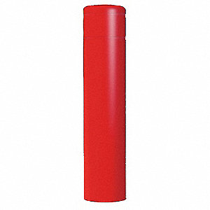 "60""H High Density Polyethylene Bollard Cover For Post Size with 12-7/8"" dia., Red"
