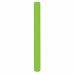 "52""H High Density Polyethylene Bollard Cover For Post Size with 4-1/2"" dia., Lime Green"