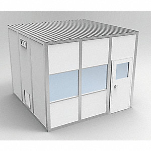 Clnrm Modular In-Plant Office,8x10x10ft