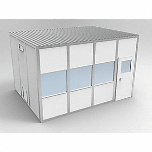 Clnrm Modular In-Plant Office,12x16x10ft