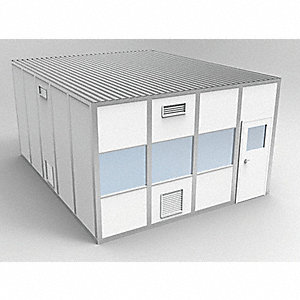 Clnrm Modular In-Plant Office,16x20x10ft