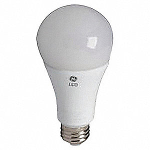 6.0 Watts LED Lamp, A19, Medium Screw (E26), 480 Lumens, 3000K Bulb Color Temp., 1 EA