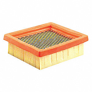 "Air Filter, Panel, 1-1/4"" Height, 3-27/32"" Length"