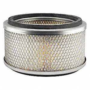 "Air Filter, Round, 4-3/4"" Height, 4-3/4"" Length, 8-1/16"" Outside Dia."