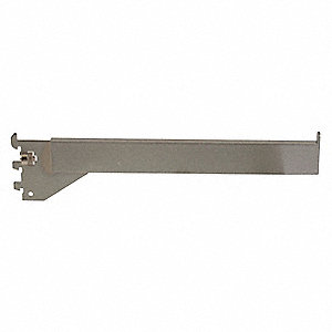 "Straight Arm,12""D,1/4""W,1""H,Silver,PK24"