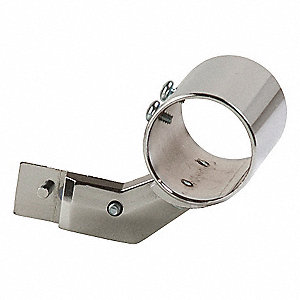"Steel Round Tubing Socket, Chrome Finish, Silver, 1""W x 2""D x 1/2""H"