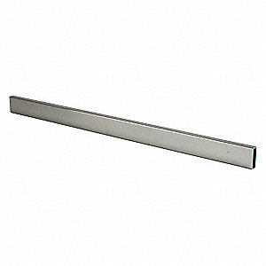 "Steel Rectangular Tubing, Chrome Finish, Silver, 1/2""W x 48""D x 1-1/2""H"