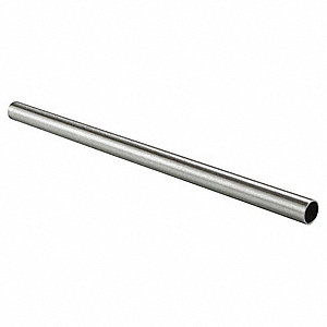 "Steel Round Tubing, Chrome Finish, Silver, 1""W x 144""D x 1""H"