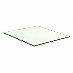 "Tempered Glass Shelves, 14""W x 3/16""H x 14""L, Glass, Clear"