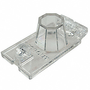 "Toggle Switch Lockout, Clear, 9/32"" Padlock Shackle Max. Dia., Plastic, 1 EA"