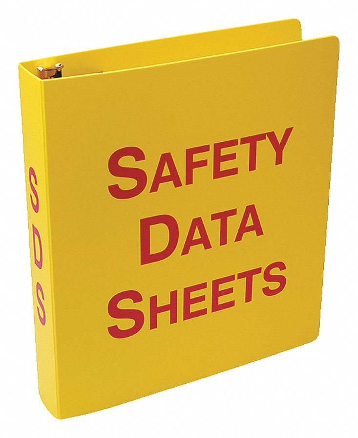 Binder,  English,  Includes 36 in Metal Security Chain,  Safety Data Sheets,  2 1/8 in Depth