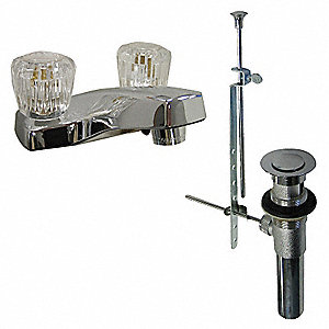 Low Lead Cast Brass Bathroom Faucet, Knob Handle Type, No. of Handles: 2