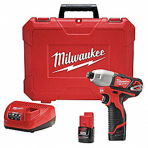 "1/4"" Hex Cordless Impact Driver Kit, 12.0 Voltage, 1000 in.-lb. Max. Torque, Battery Included"