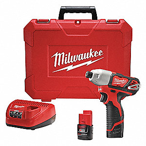 "1/4"" Cordless Impact Driver Kit, 12.0 Voltage, 1000 in.-lb. Max. Torque, Battery Included"