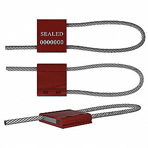 "Adjustable Length Seals, Aluminum, Red, 10"", 50 PK"