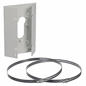 "Pole Mount, Gray, 5-5/16"" D, Aluminum"