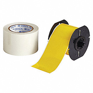 Yellow B-483/B-634 ToughStripe  Polyester with Polyester Overlaminate Label Tape Cartridge, Indoor L