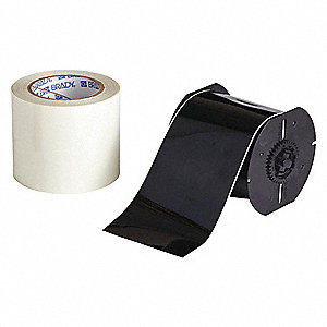 Indoor B-483/B-634 ToughStripe™ Polyester with Polyester Overlaminate Label Tape Cartridge, Black, 4