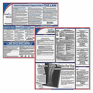 Labor Law Poster Kit,NC,English,2-1/2inW