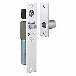 Mortise Bolt Lock, Satin Chrome, 1-1/2in.L
