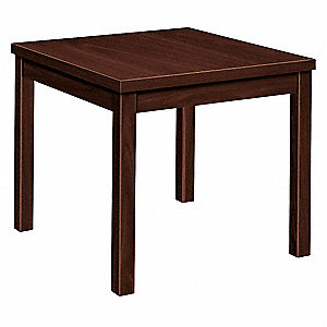 End Table,Mahogany,20 in. H